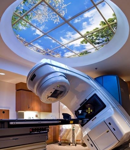 Benefits of Virtual Skylights in LINAC Rooms